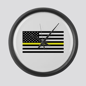 U.S. Flag: Black Flag & The Thin Large Wall Clock