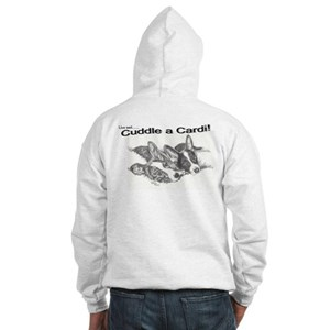 Cardigan Puppies Hooded Sweatshirt