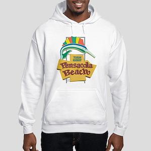 Pensacola Beach Sign, Florida Hooded Sweatshirt