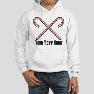 Candy Canes Personalized Hooded Sweatshirt