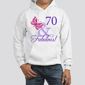 70th Birthday Butterfly Hooded Sweatshirt