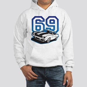 '69 Camaro in Blue Hooded Sweatshirt