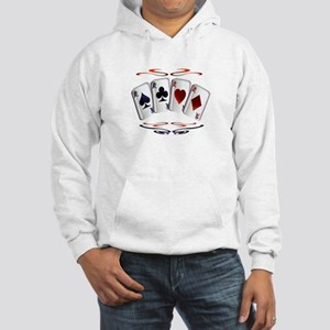 Aces with design Hooded Sweatshirt