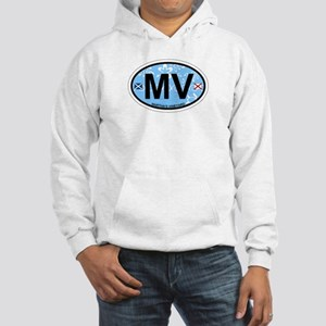 Martha's Vineyard MA - Oval Design. Hooded Sweatsh