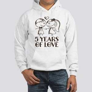 5th Anniversary chalk couple Hooded Sweatshirt