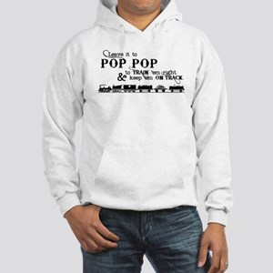 Leave Pop Pop Train em Hooded Sweatshirt