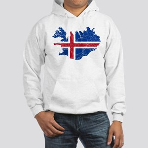 Iceland Flag And Map Hooded Sweatshirt