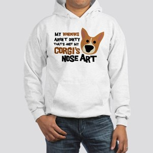 Corgi Nose Art Hooded Sweatshirt