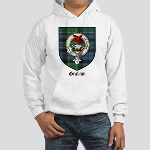523a15cb9 Graham Clan Crest Tartan Hooded Sweatshirt