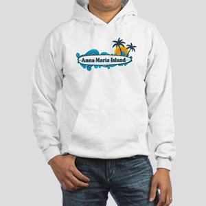 Anna Maria Island - Surf Design. Hooded Sweatshirt