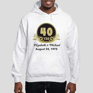 40th Anniversary Personalized Gift Idea Sweatshirt