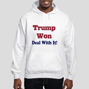 Trump Won Deal With It Hooded Sweatshirt