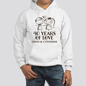 40th Wedding Anniversary Personalized Sweatshirt