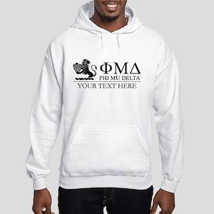 Phi Mu Delta Letters Personalize Hooded Sweatshirt