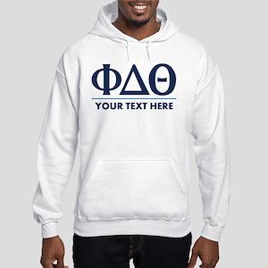Phi Delta Theta Personalized Hooded Sweatshirt