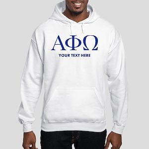 Alpha Phi Omega Letters Personal Hooded Sweatshirt
