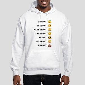 Emoji Days of the Week Hooded Sweatshirt