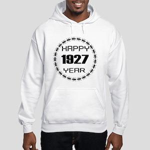 Happy 1927 Year Designs Hooded Sweatshirt