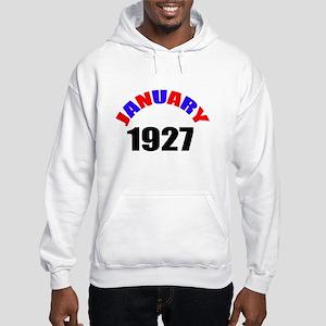 1927 January Birthday Hooded Sweatshirt