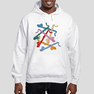 Colorful Bass Clarinets Hooded Sweatshirt