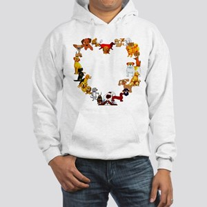 Dog Heart Hooded Sweatshirt