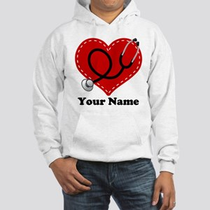 Personalized Nurse Heart Hooded Sweatshirt