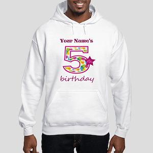 5th Birthday Splat - Personalize Hooded Sweatshirt