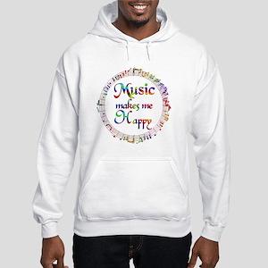 Music makes me Happy Hooded Sweatshirt