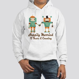 12th Anniversary Vintage Robot C Hooded Sweatshirt