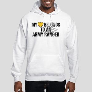 My Heart Belongs to an Army Ranger Hooded Sweatshi