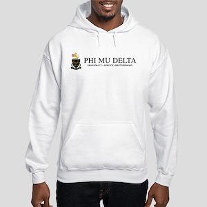 Phi Mu Delta Crest Hooded Sweatshirt