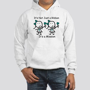 Teal Ribbon - Mission Sisters Hooded Sweatshirt