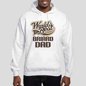 Briard Dad Dog Gift Hooded Sweatshirt