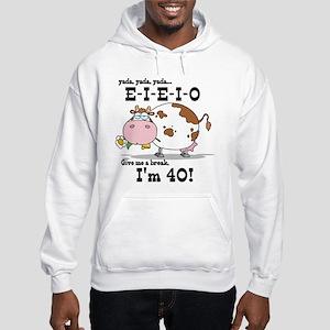 EIEIO 40th Birthday Hooded Sweatshirt
