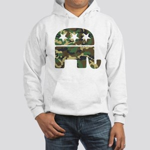Republican Camo Elephant Hooded Sweatshirt