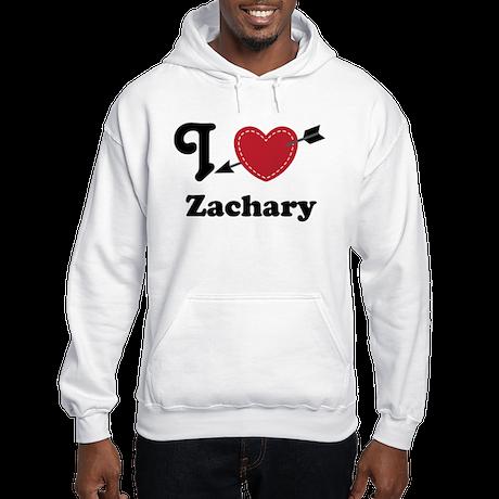Personalized Couples Heart Hooded Sweatshirt