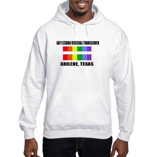 Gay Pride -Abilene Texas Hooded Sweatshirt By