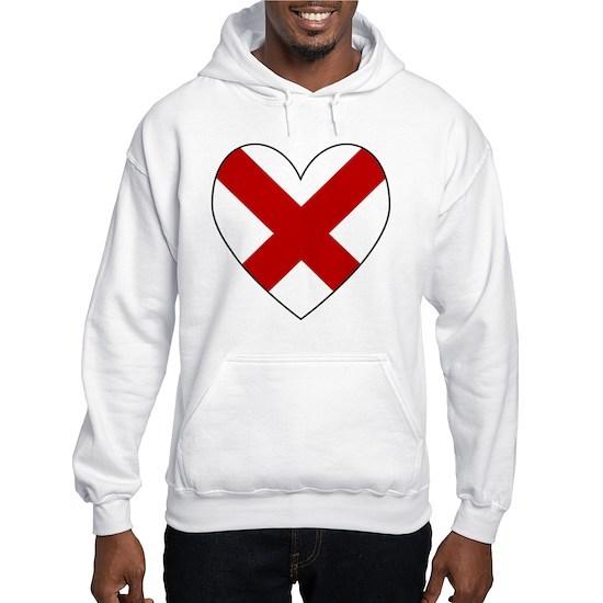 Alabama Flag Heart Valentine