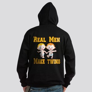 Real Men Make Twins Hoodie (dark)