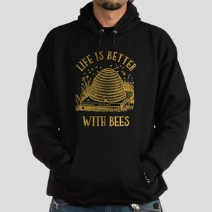 Life's Better With Bees Hoodie (dark)