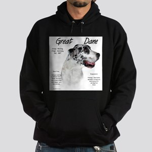 Great Dane (harlequin) Hoodie (dark)