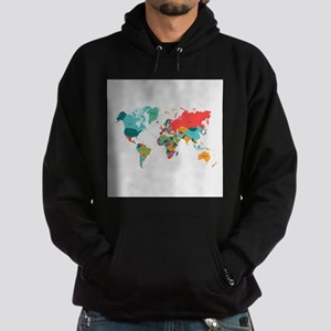 World Map With the Name of The Countries Hoodie
