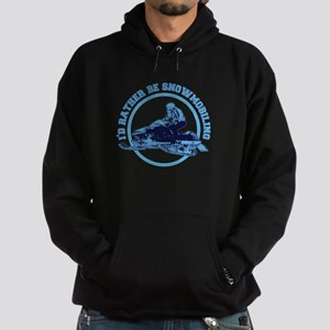 I'd Rather Be Snowmobiling Hoodie (dark)