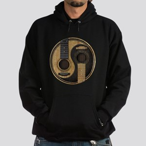 Old and Worn Acoustic Guitars Yin Yang Hoodie