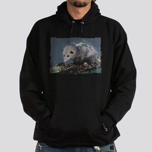 Opossum on a Gnarley Branch Hoodie (dark)