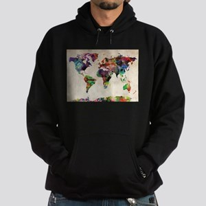 World Map Urban Watercolor 14x10 Sweatshirt