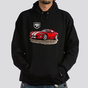 Viper Red/White Car Hoodie (dark)