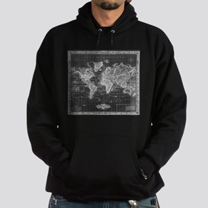 Vintage Map of The World (1833) Black & Sweatshirt
