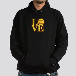 Personalized Love Softball Hoodie