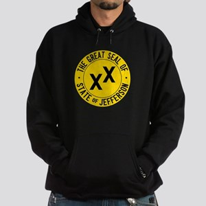 State of Jefferson Flag Hoodie (dark)